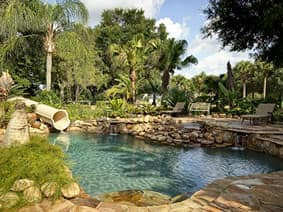The Ever After Estate's lagoon pool - rent this vacation home!