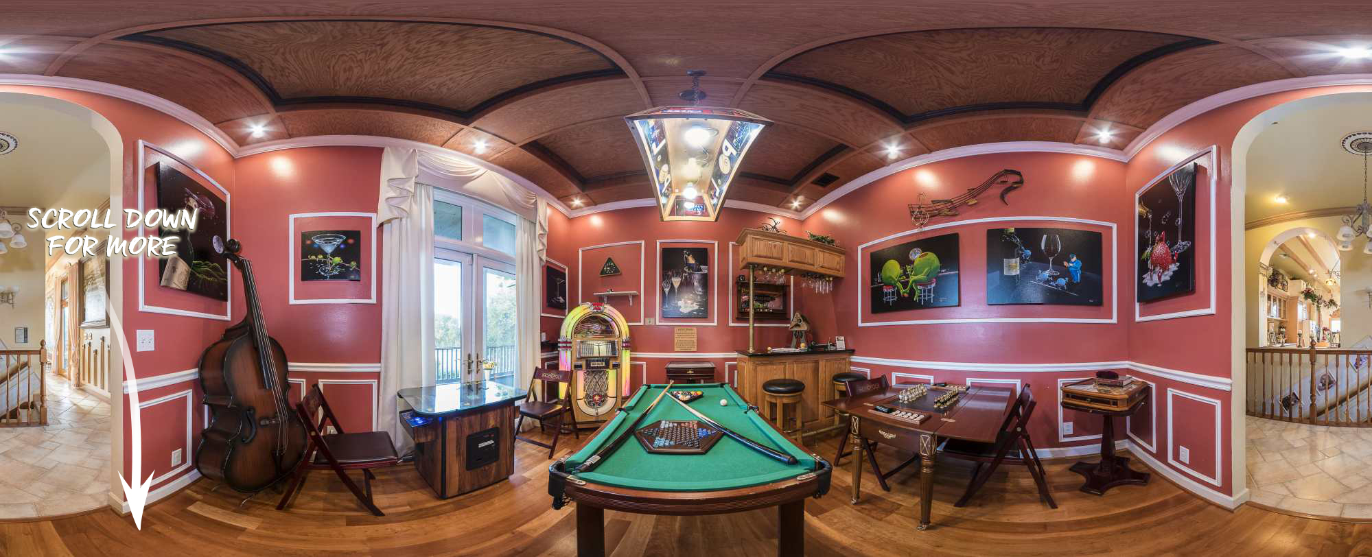 One of 4 game rooms at The Ever After Estate 62 acre vacation rental home