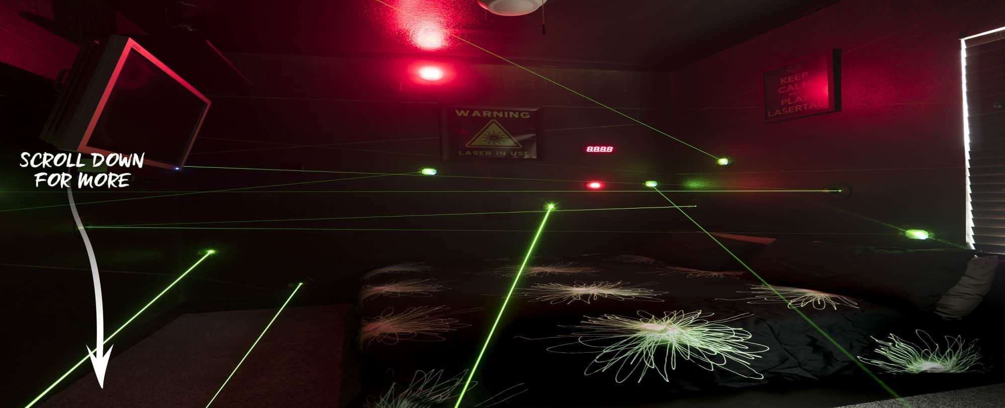 Laser Maze at The Great Escape Lakeside Vacation Home Rental