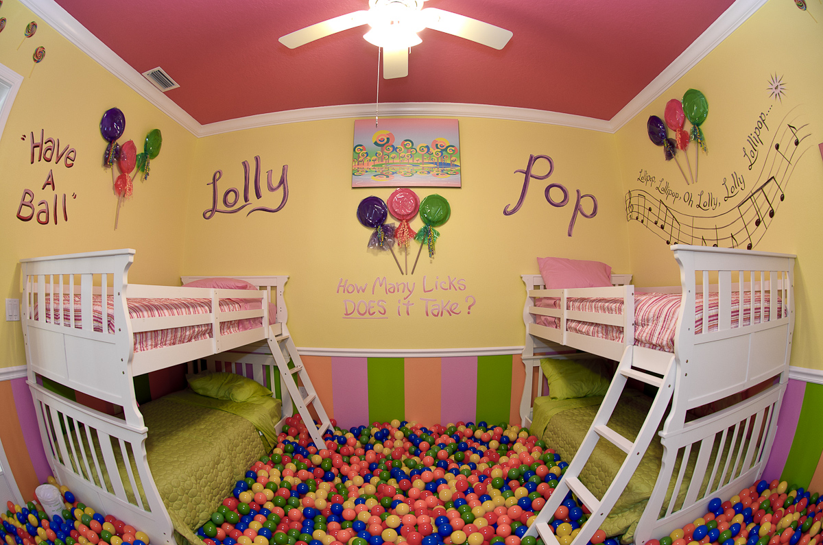 Ballpit in a house ! - At The Sweet Escape Mansion Vacation Home Rental near Orlando, Florida
