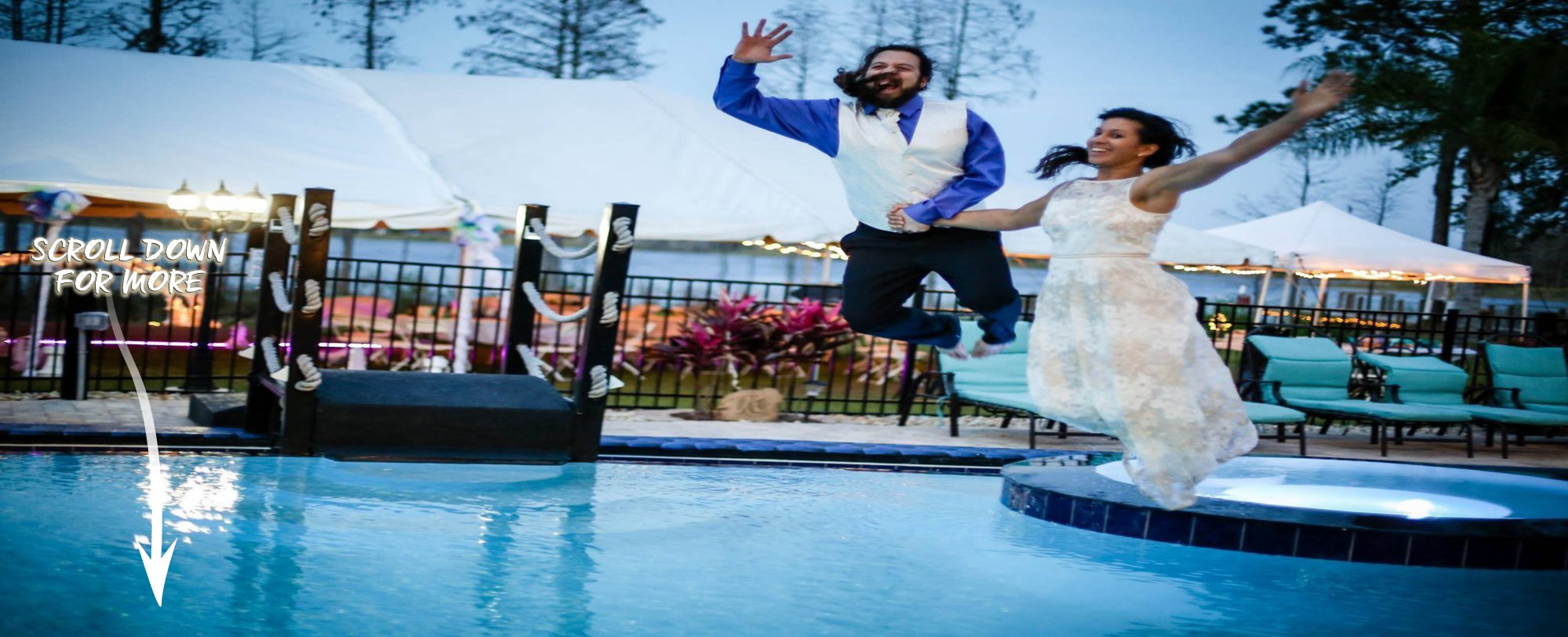 Take the plunge! Have your wedding at The Great Escape Lakeside home